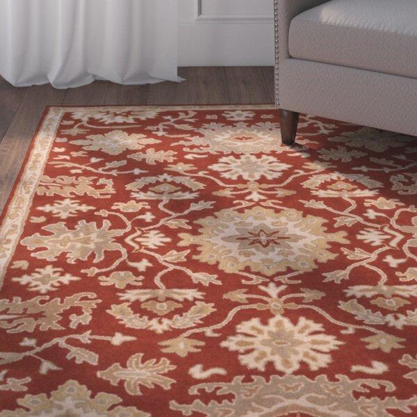 Burgundy Carpet Bedroom Small Bedroom Cupboards Designs Bedroom Chandeliers Next Cream Bedroom Chairs: Sienna Burgundy & Beige Floral Wool Hand-Tufted Area Rug & Reviews