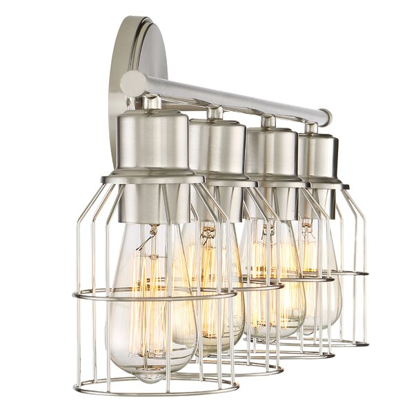 Glass Vial Vanity Light : Anderson 4-Light Vanity light & Reviews Joss & Main
