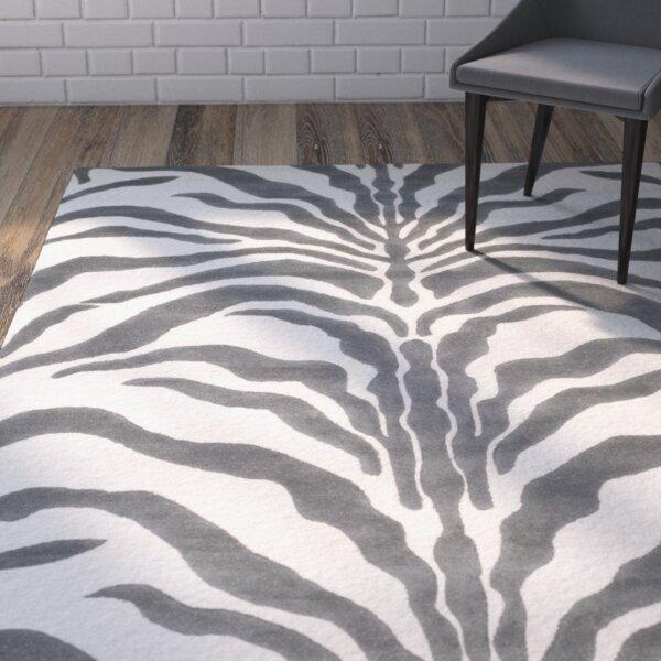 Sandra Gray Amp Silver Animal Print Wool Hand Tufted Area