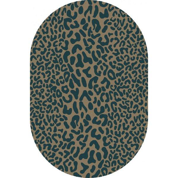 Zebi Teal Animal Print Wool Hand-Tufted Area Rug & Reviews