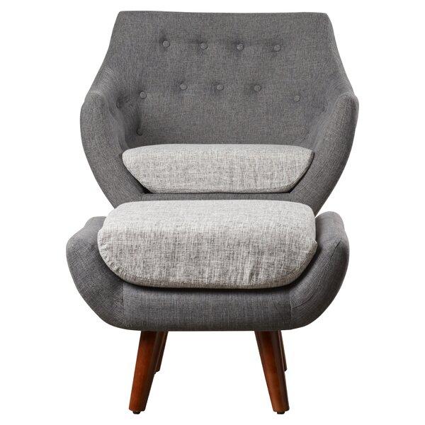 2 Piece Anna Arm Chair Amp Ottoman Set Amp Reviews Joss Amp Main