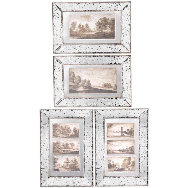 4 Piece Giolla Wall Decor Set : Piece imogen framed wall decor set reviews joss main