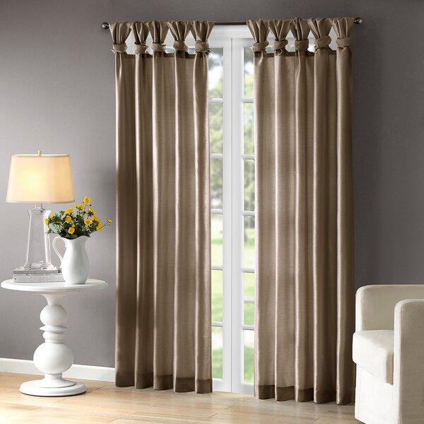 Catelynn Sheer Twist Tab Single Curtain Panel Amp Reviews