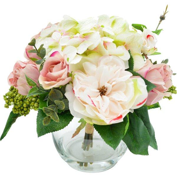 Faux Mixed Rose & Hydrangea