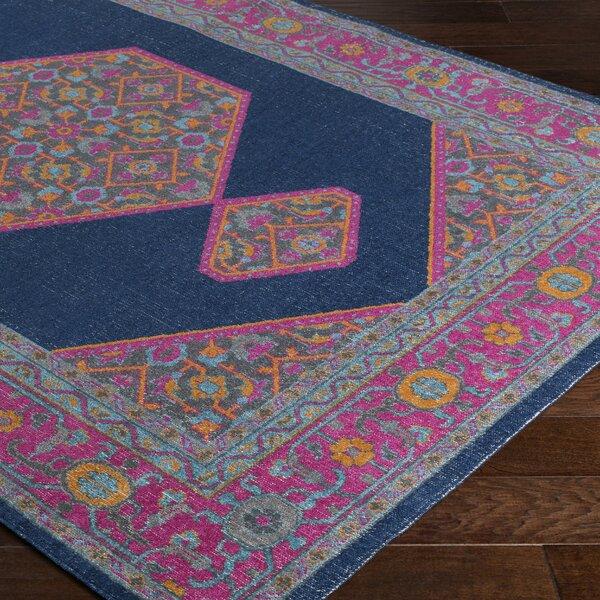randhir blue pink area rug joss main. Black Bedroom Furniture Sets. Home Design Ideas