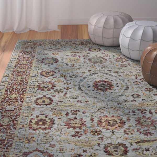 Glastonbury blue red area rug joss main for Red and blue area rug