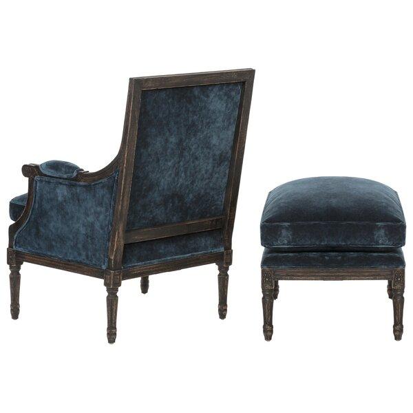 2 Piece Zelda Velvet Arm Chair Amp Ottoman Set Amp Reviews