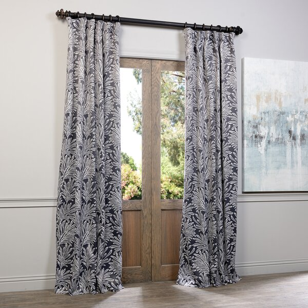Lauren Floral Print Blackout Pinch Pleat Single Curtain Panel Reviews Joss Main