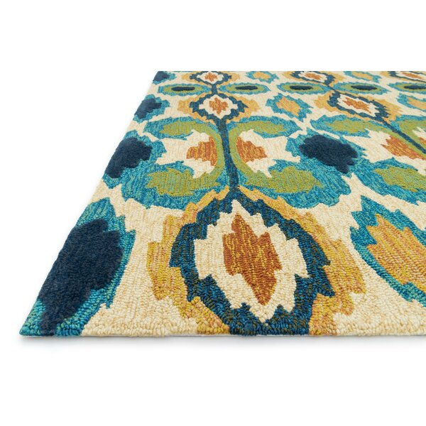 Avery Indoor Outdoor Rug in Ivory & Blue & Reviews