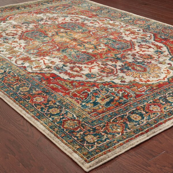 Veronica Old World Red Area Rug & Reviews