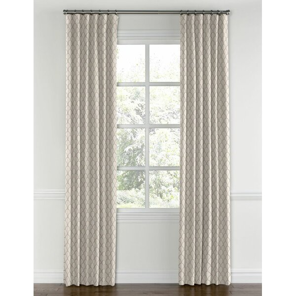 Kitchen Curtains In Kenya: Kenya Embroidered Scallop Single Curtain Panel