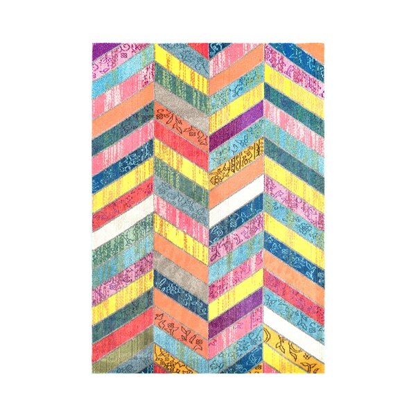 Sydnee Pink/Green/Yellow Area Rug & Reviews