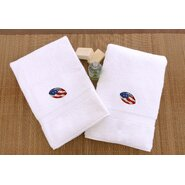 Football Embroidered Hand Towel (Set of 2)