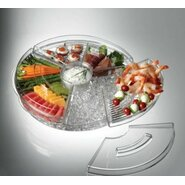 Appetizers on Ice with Lids Keeps Acrylic Tray