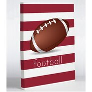 Football Graphic Art on Wrapped Canvas