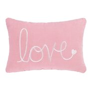 Valentine's Love Velvet Cotton Lumbar Pillow