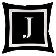 Classic Block Monogram Polyester Throw Pillow