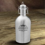 3 Beers Personalized 64 oz. Stainless Steel Growler