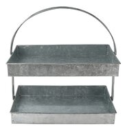 Luxe 2-Tier Galvanized Tiered Stand
