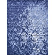 Damask Light Blue Area Rug
