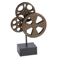 Metal Movie Reel Sculpture