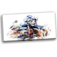 Football Quarterback Graphic Art on Wrapped Canvas