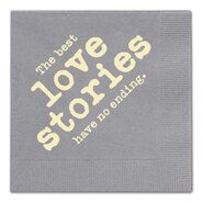 The Best Love Stories Cocktail Napkin (Set of 25)