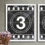 Movie Prints 'Movie Poster Film Reel Countdown Number 3' Graphic Art on Paper
