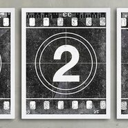 Movie Prints 'Movie Poster Film Reel Countdown Number 2' Graphic Art on Paper