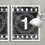 Movie Prints 'Movie Poster Film Reel Countdown Number 1' Graphic Art on Paper