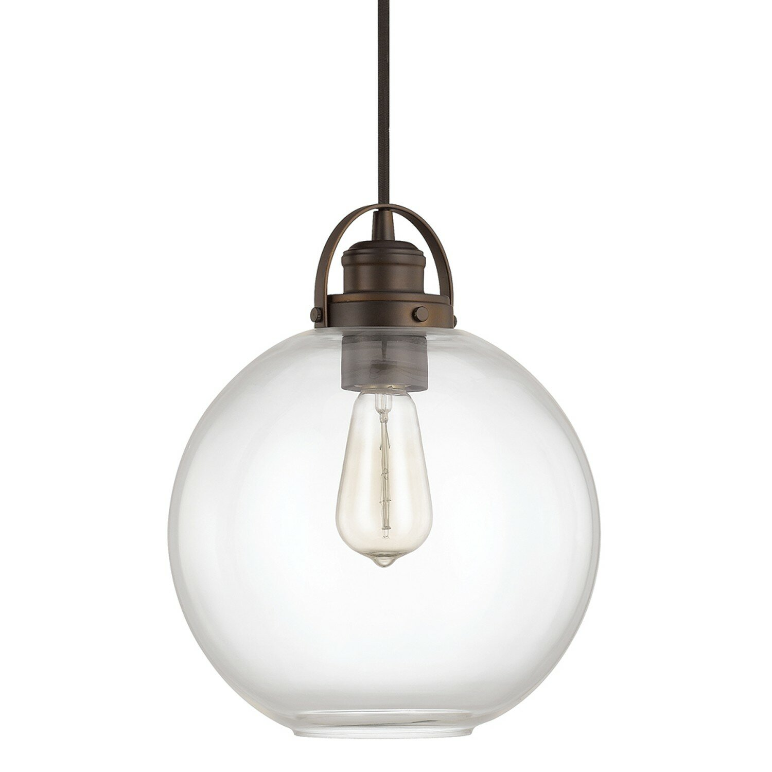Capital Lighting Norman 1 Light Globe Mini Pendant ...