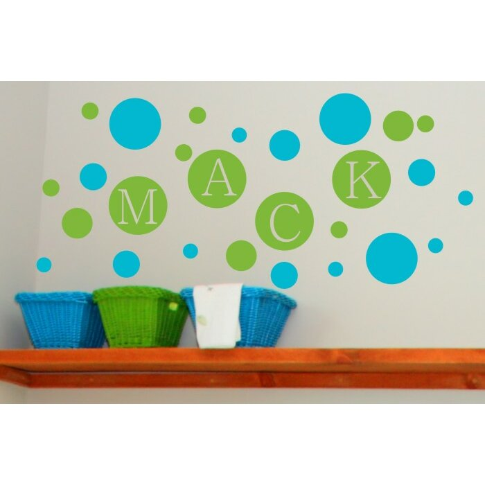 Alphabet garden designs personalized dots wall decal for Alphabet garden designs