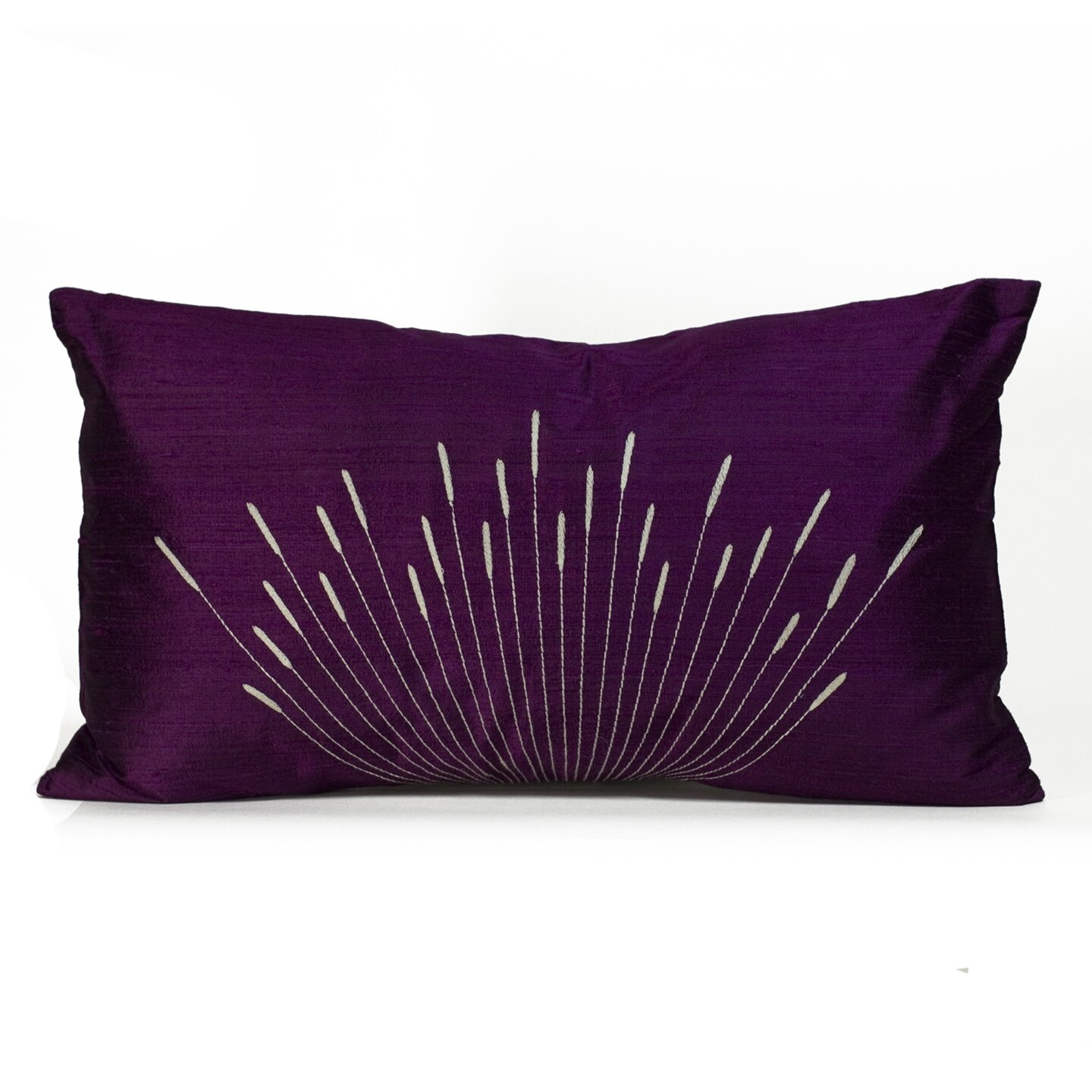 Wayfair Blue Decorative Pillows : Jiti Branches Silk Lumbar Pillow & Reviews Wayfair Supply