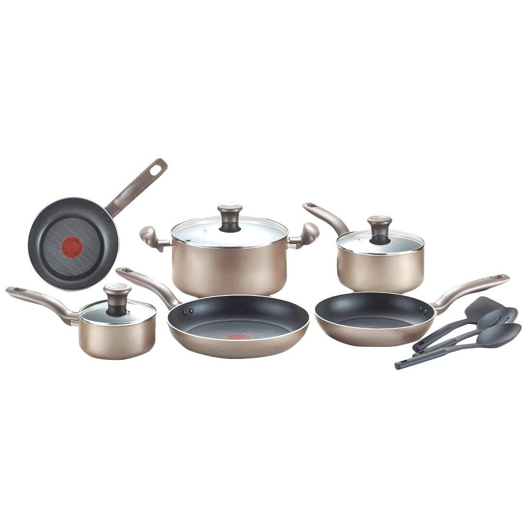 T Fal Metallic Bronze 12 Piece Cookware Set Reviews
