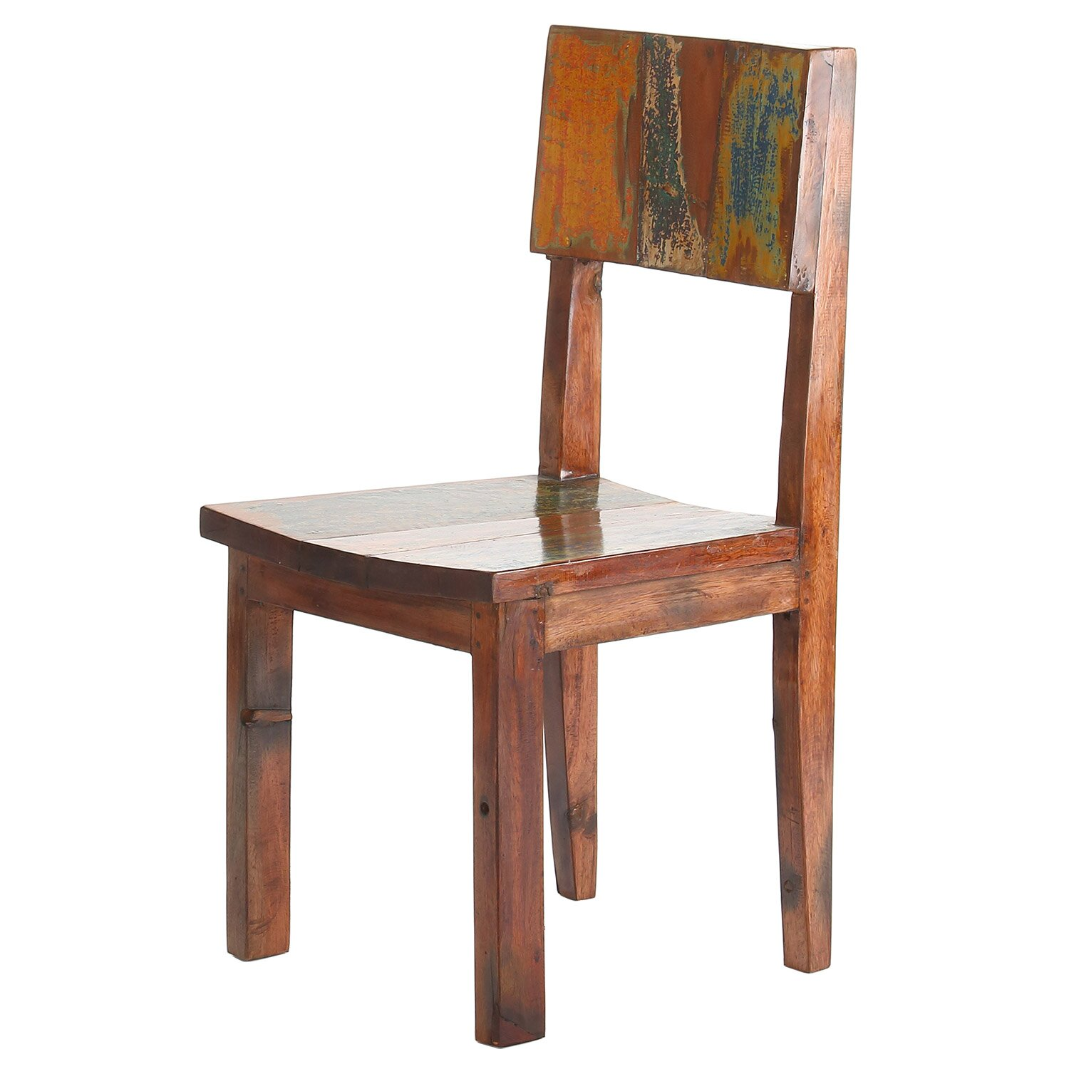 Polivaz Reclaimed Boat Wood Side Dining Chair Amp Reviews