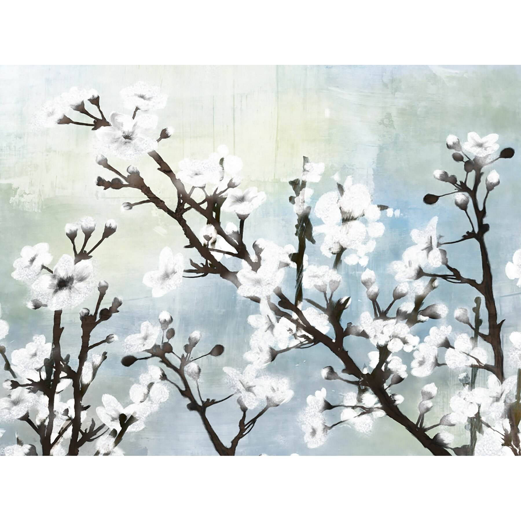 Ptm images cherry blossom i painting print on wrapped for Canvas painting of cherry blossoms