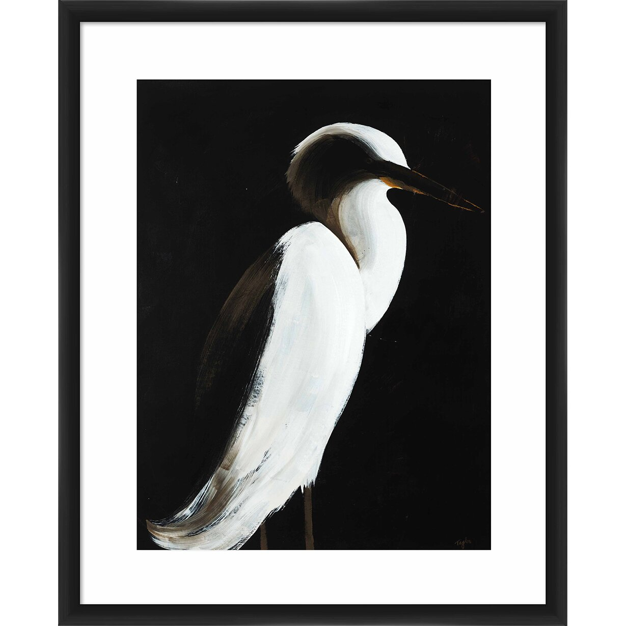 Ptm images 39 white heron 39 framed painting print reviews for White heron paint