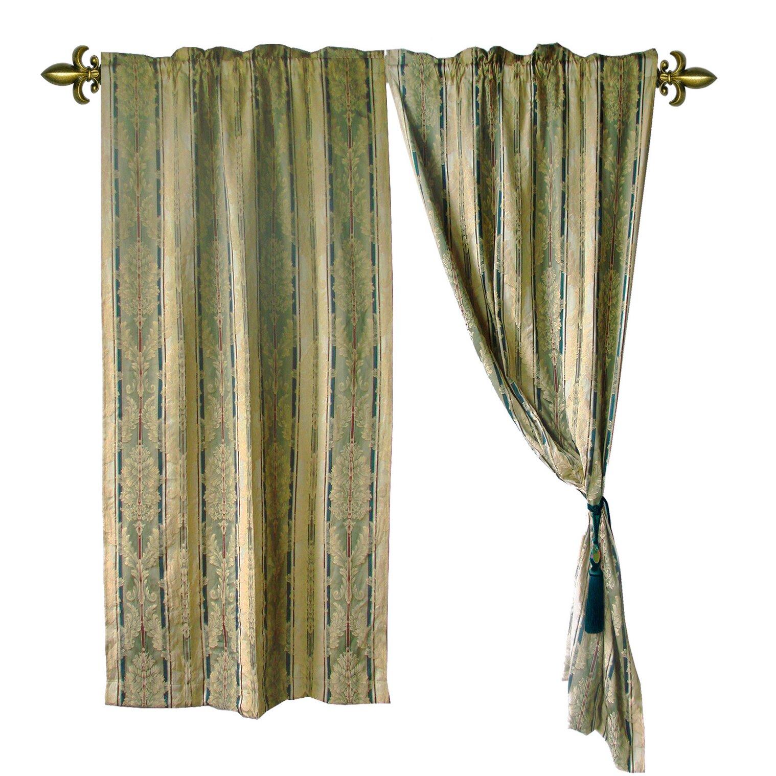 Textiles Plus Inc Jacquard Fleur De Lis Rod Pocket