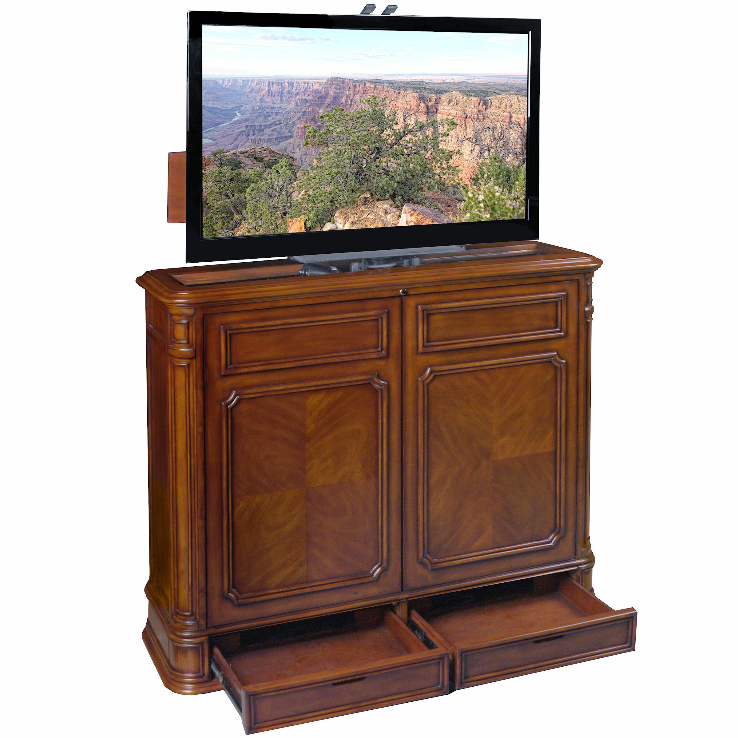 Tvliftcabinet Inc Crystal Pointe Swivel Lift Tv Stand