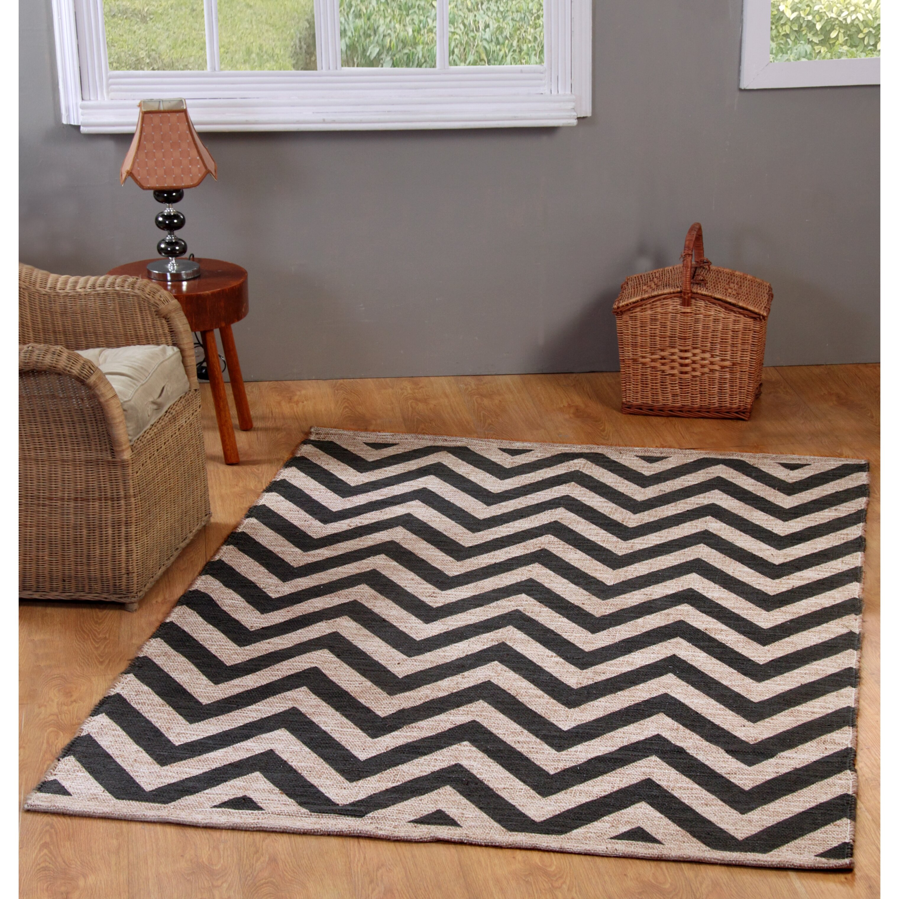 Chevron Accent Rug: Chesapeake Printed Grey Chevron Outdoor Area Rug & Reviews
