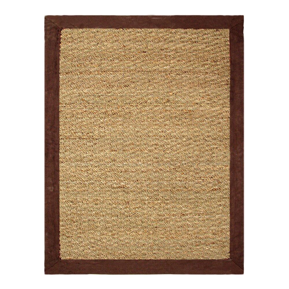 chesapeake seagrass beige chocolate area rug reviews wayfair. Black Bedroom Furniture Sets. Home Design Ideas