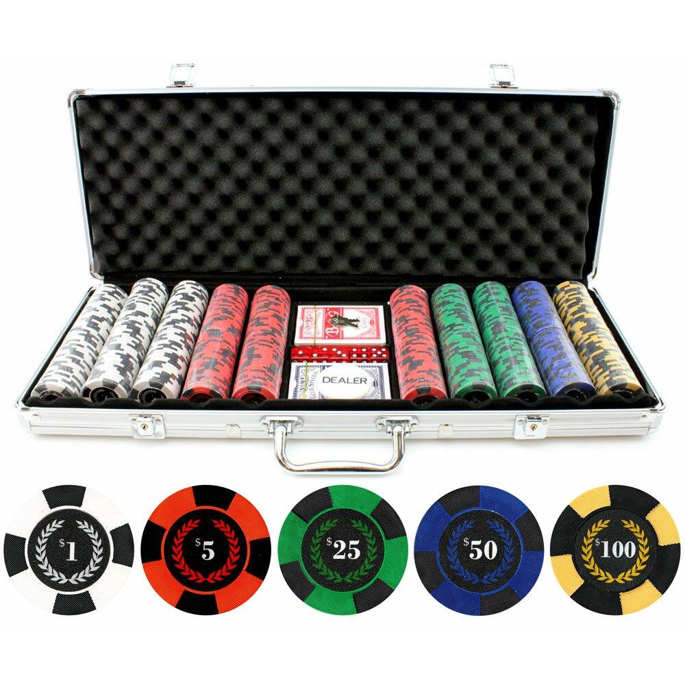 500 piece poker chip set