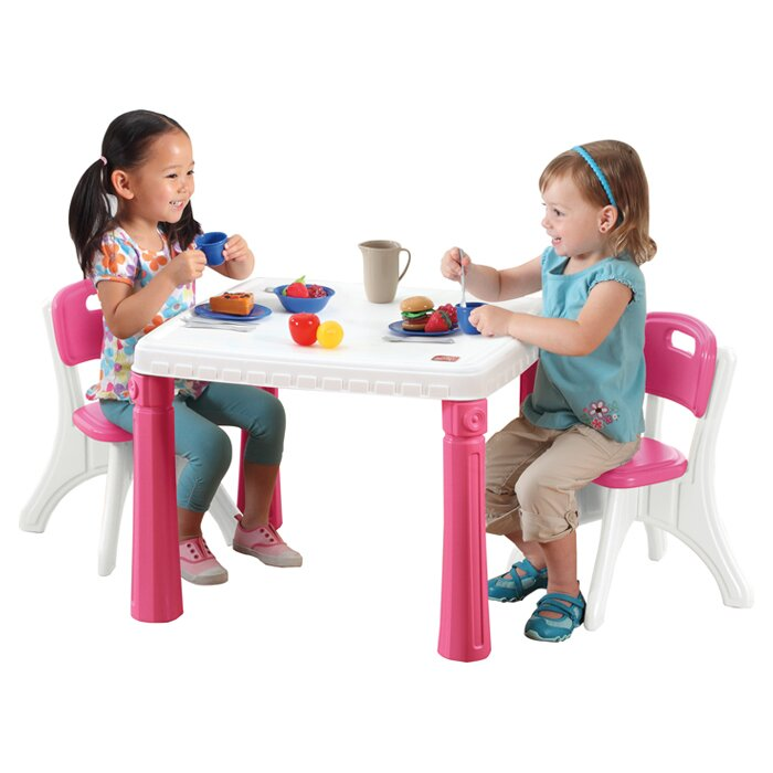 Step2 Lifestyle Kitchen Kids Table and Chair Set & Reviews ...