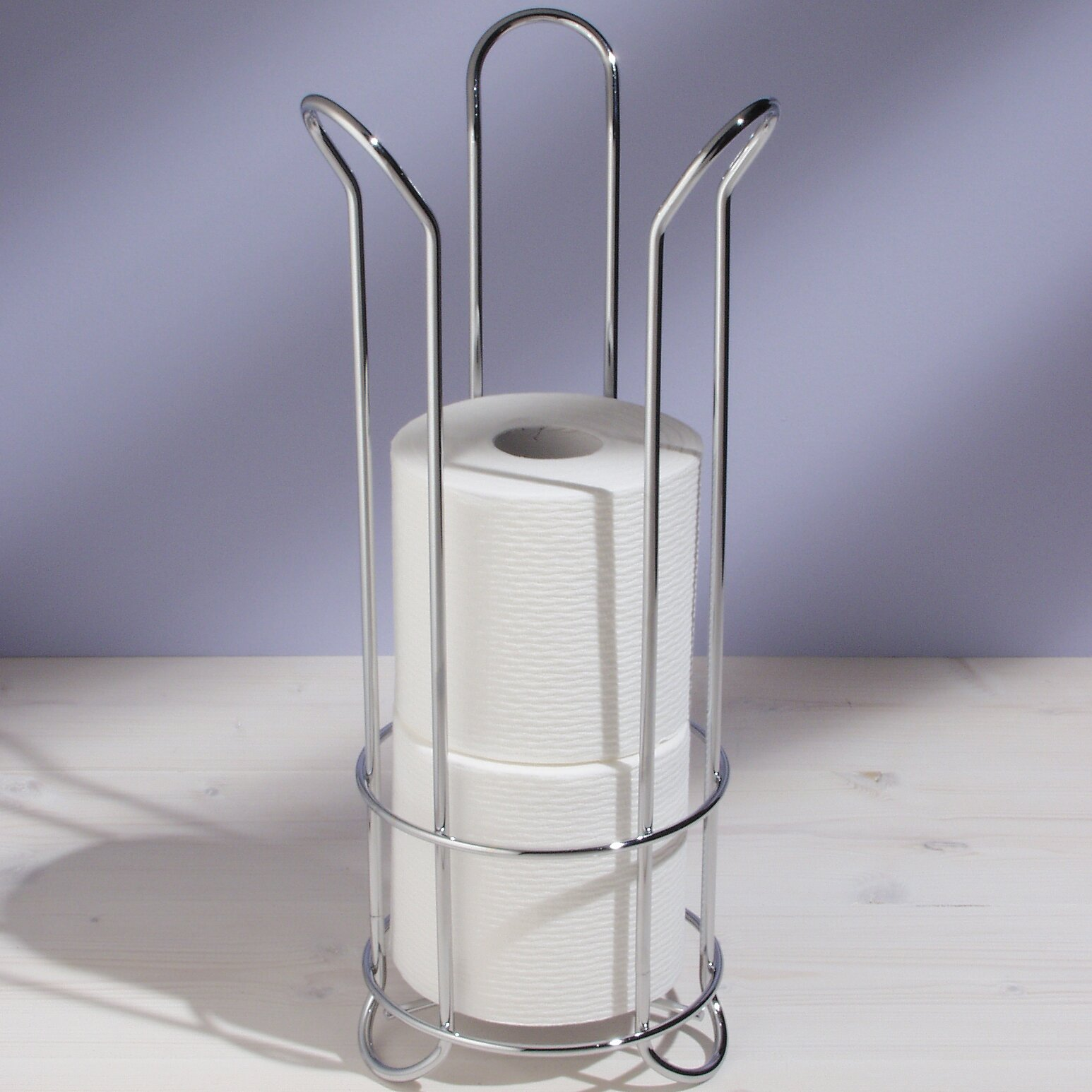Interdesign free standing tulip toilet paper holder Toilet paper holder free standing