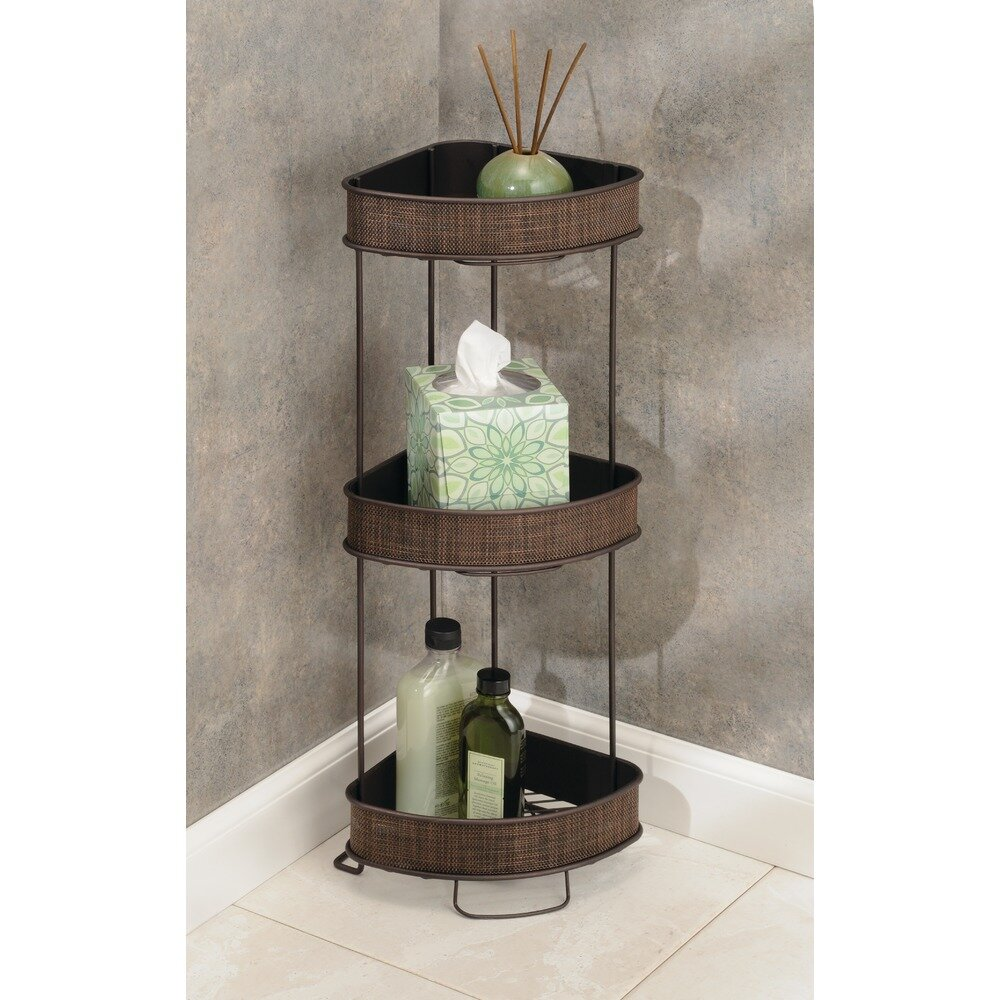 Interdesign Twillo Free Standing Bathroom Corner Storage