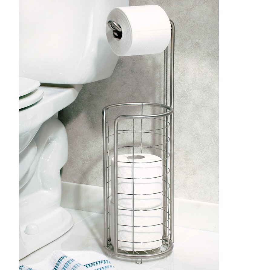 Interdesign forma free standing toilet paper holder Toilet paper holder free standing
