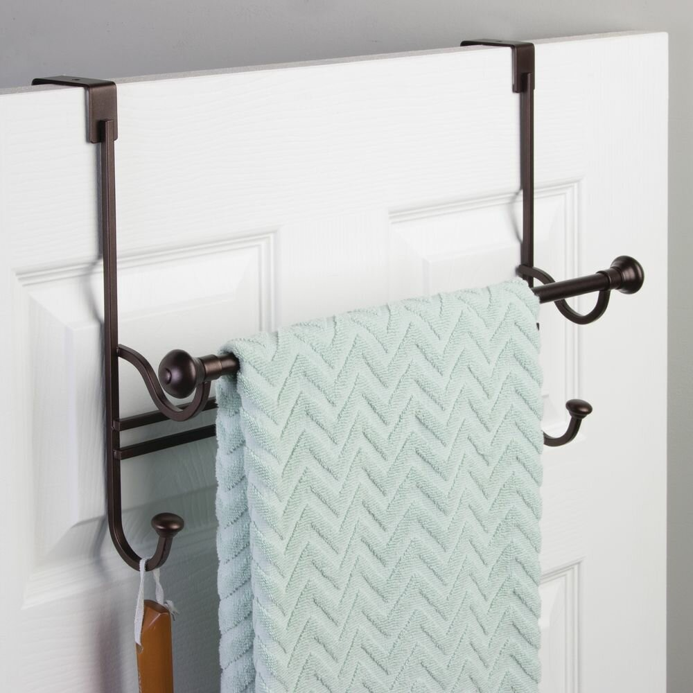 Over The Door Towel Rack Bathroom: InterDesign York Over The Shower Door Towel Rack