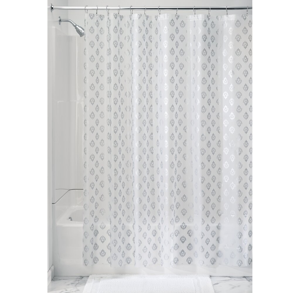 Interdesign florence shower curtain liner wayfair for Shower curtain savers