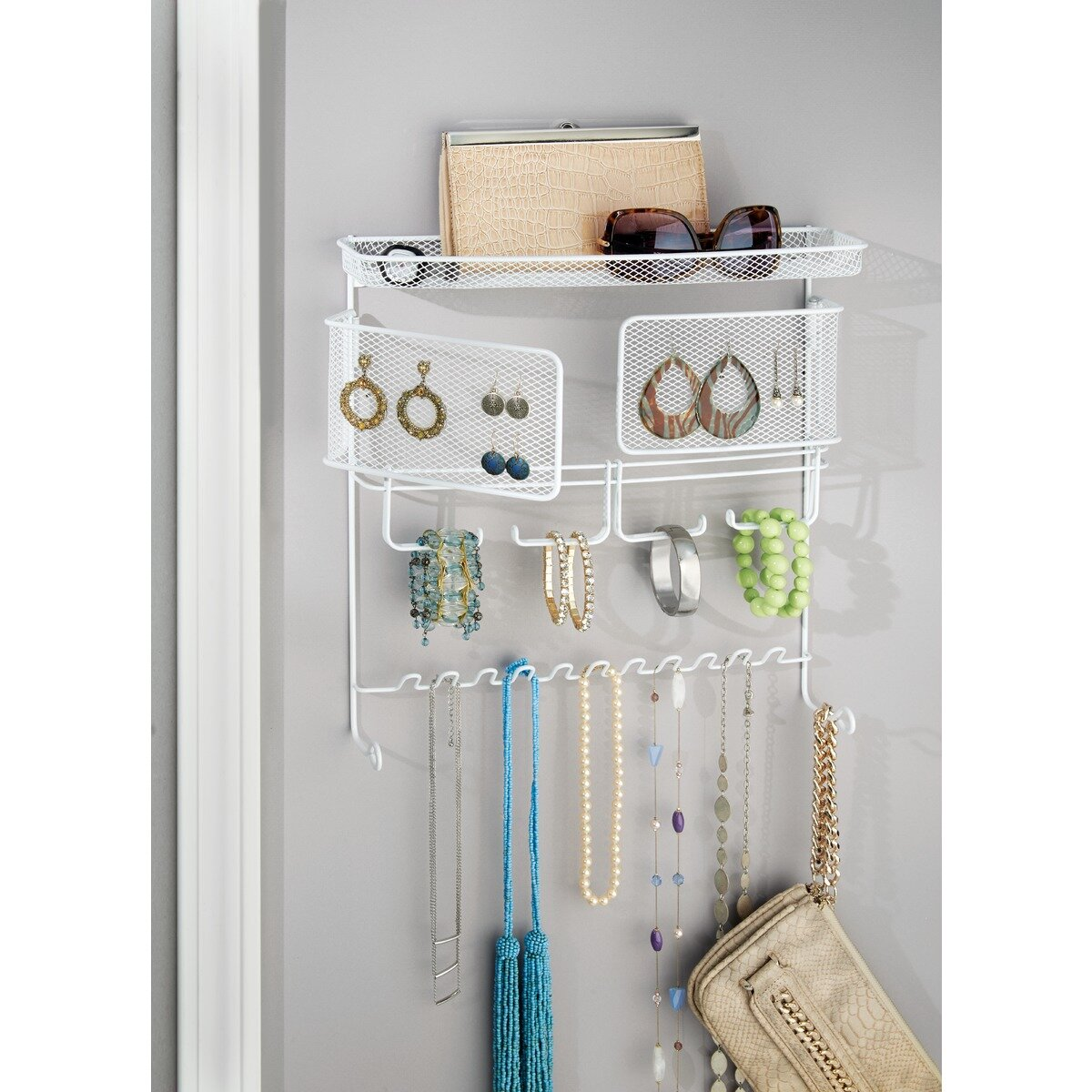Jewelry Organizers Wall: InterDesign Classico Wall Mount Jewelry And Accessory