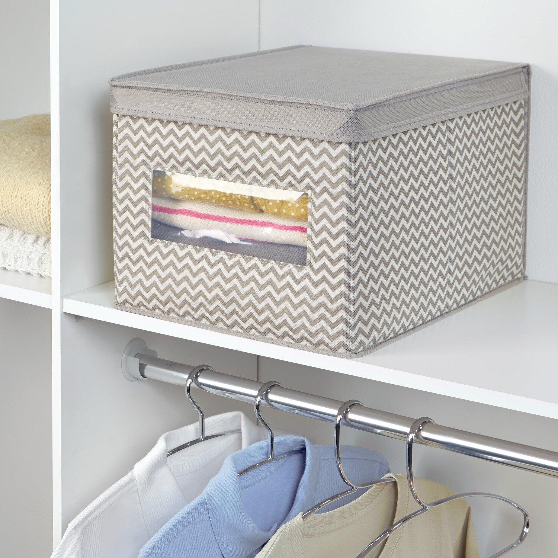 Interdesign Chevron Fabric Closet And Dresser Drawer
